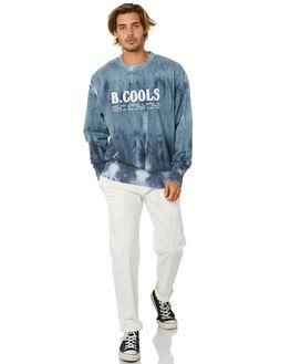 MARINE TIE DYE MENS CLOTHING BARNEY COOLS JUMPERS - 401-Q120MRNTD