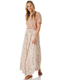 PEACH FLORAL WOMENS CLOTHING O'NEILL SKIRTS - 5421616PFL