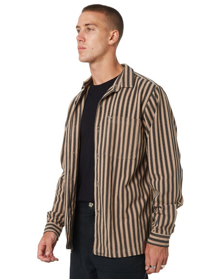 TAUPE MENS CLOTHING MISFIT SHIRTS - MT095401TAUPE