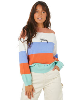 RUST WOMENS CLOTHING STUSSY KNITS + CARDIGANS - ST105300_RUST