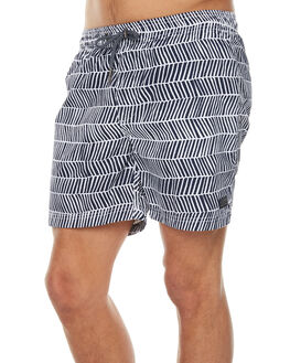 NAVY WHITE MENS CLOTHING ACADEMY BRAND BOARDSHORTS - 18S720NVWH