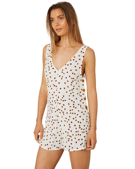 WHITE WOMENS CLOTHING TIGERLILY PLAYSUITS + OVERALLS - T395439WHT