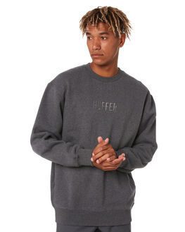 CHARCOAL MARLE MENS CLOTHING HUFFER JUMPERS - MCR02S4001CHRML