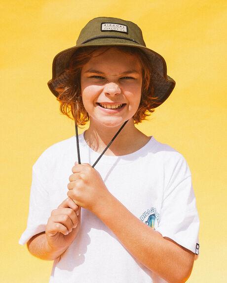DARK OLIVE KIDS BOYS RIP CURL HEADWEAR - KHAAF99389