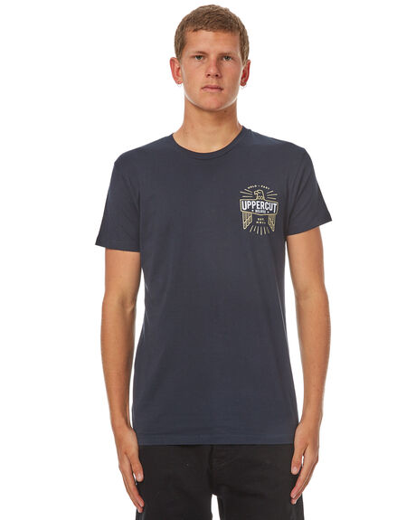 NAVY WHITE MENS CLOTHING UPPERCUT TEES - UPDTS0374NVYWH