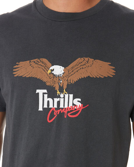 MERCH BLACK MENS CLOTHING THRILLS TEES - TS9-136MBMCBLK