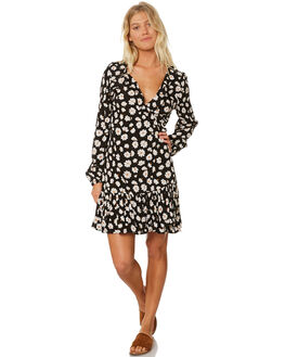 BLACK WOMENS CLOTHING BILLABONG DRESSES - 6595482BLK
