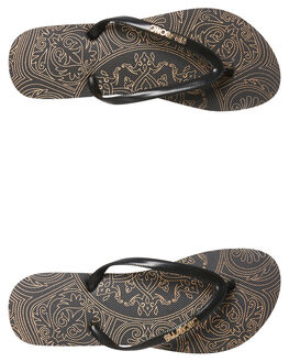BLACK WOMENS FOOTWEAR BILLABONG THONGS - 6681809BLK