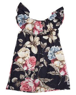 ROSE BLACK KIDS TODDLER GIRLS SWEET CHILD OF MINE DRESSES - LENADRSSRSBLK