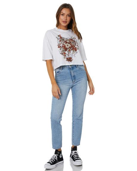 WHITE WOMENS CLOTHING VOLCOM TEES - B3512117WHT