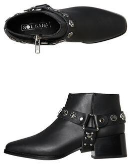 BLACK WOMENS FOOTWEAR SOL SANA BOOTS - SS191W310BLK
