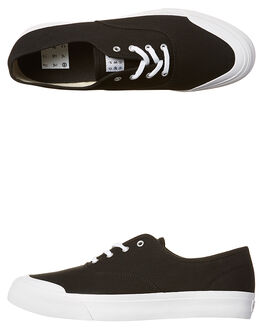 BLACK MENS FOOTWEAR HUF SKATE SHOES - VC62001BLK