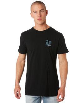 BLACK MENS CLOTHING SWELL TEES - S5193017BLACK