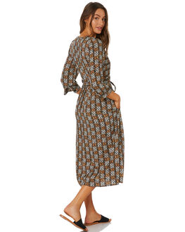 TORTOISE SHELL WOMENS CLOTHING RUSTY DRESSES - DRL1034TOR