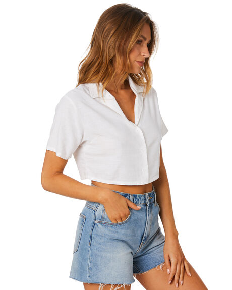 WHITE WOMENS CLOTHING ALL ABOUT EVE FASHION TOPS - 6464203WHT