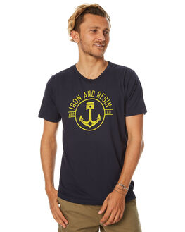 NAVY MENS CLOTHING IRON AND RESIN TEES - IR0760-SP17A0NVY