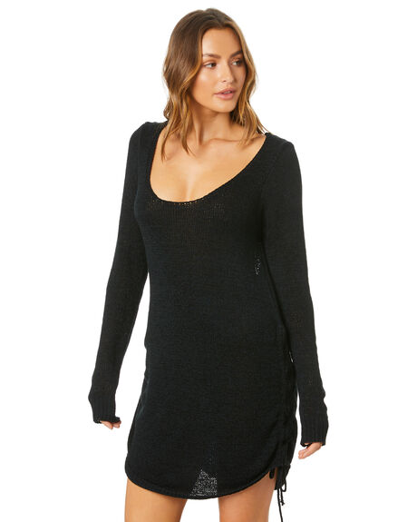 BLACK WOMENS CLOTHING SNDYS DRESSES - SED229BLK