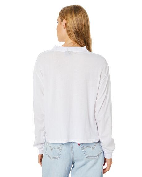 WHITE WOMENS CLOTHING STUSSY TEES - ST107004WHT