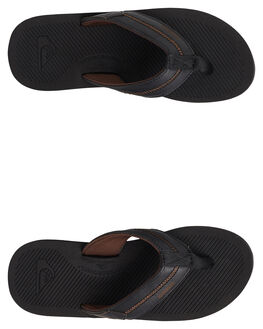 BLACK/BLACK/GREY MENS FOOTWEAR QUIKSILVER THONGS - AQYL100760-XKKS