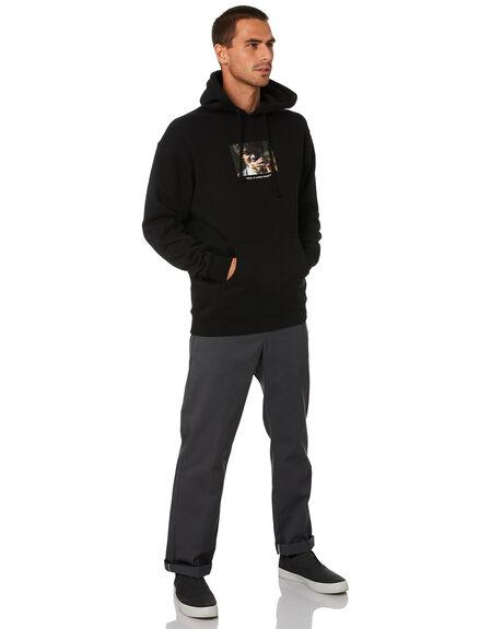 BLACK MENS CLOTHING HUF JUMPERS - PF00339-BLK