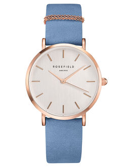 AIRY BLUE ROSE GOLD WOMENS ACCESSORIES ROSEFIELD WATCHES - WAGR-W76ABLUR