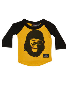 MUSTARD BLACK KIDS BABY ROCK YOUR BABY CLOTHING - BBT1941-GAMSTBK