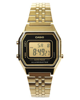 GOLD BLACK WOMENS ACCESSORIES CASIO WATCHES - LA680WGA-1DGLDBL