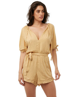 MUSTARD OUTLET WOMENS THE HIDDEN WAY PLAYSUITS + OVERALLS - H8182443MSTRD