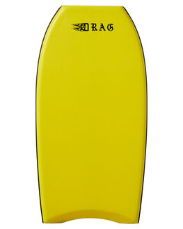 YELLOW TRIBAL SLICK BOARDSPORTS SURF DRAG BODYBOARDS - DRASHREDSLEDYEL