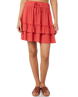 CHRYSANTHEMUM WOMENS CLOTHING RUSTY SKIRTS - SKL0467RED
