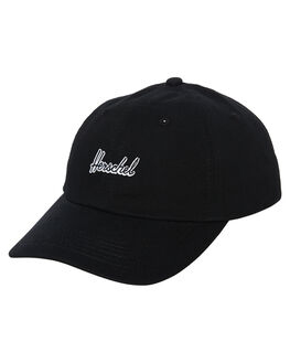 BLACK MENS ACCESSORIES HERSCHEL SUPPLY CO HEADWEAR - 1123-0001-OSBLK