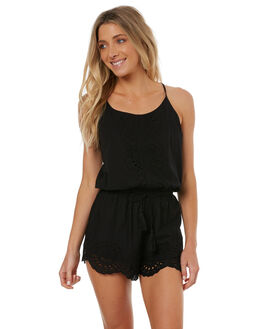 BLACK WOMENS CLOTHING RIP CURL PLAYSUITS + OVERALLS - GDRAA00090