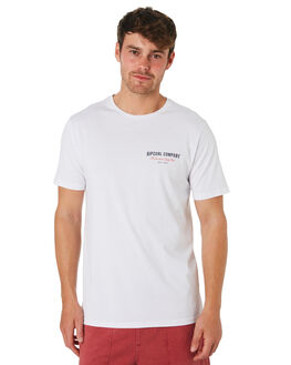 WHITE MENS CLOTHING RIP CURL TEES - CTESC21000