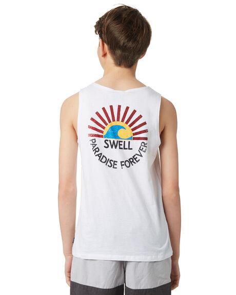 WHITE KIDS BOYS SWELL TOPS - S3184273WHITE