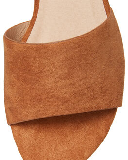 CHESNUT SUEDE WOMENS FOOTWEAR BILLINI SLIDES - S546CHED