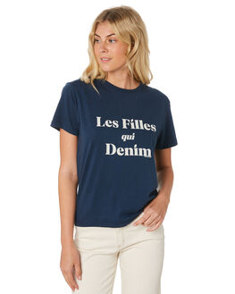 BALTIC BLUE WOMENS CLOTHING A.BRAND TEES - 71455-4286