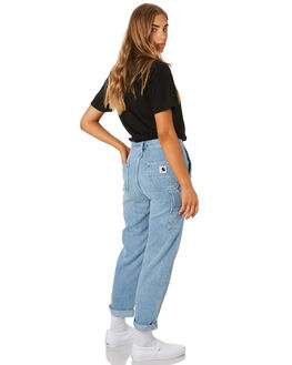 BLUE LIGHT STONE WOMENS CLOTHING CARHARTT JEANS - I0252680147