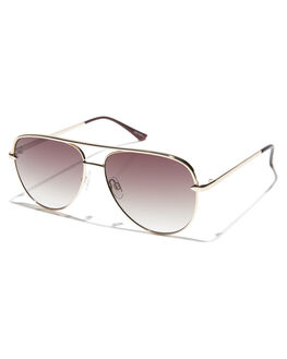 GOLD SMOKE TAUPE WOMENS ACCESSORIES QUAY EYEWEAR SUNGLASSES - QW-000427GLDSM