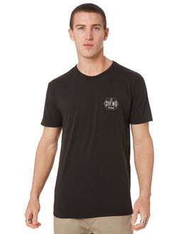 BLACK MENS CLOTHING STACEY TEES - STTEESQUBLK