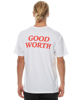 WHITE MENS CLOTHING GOOD WORTH TEES - TGW1732WHT