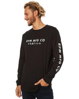 BLACK MENS CLOTHING RPM TEES - 7AMT08ABLK