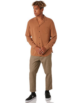 BURNT KHAKI MENS CLOTHING BANKS SHIRTS - WLS0101BTK