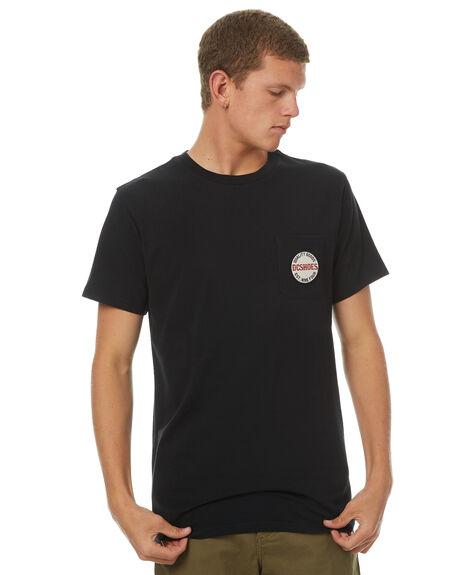 BLACK MENS CLOTHING DC SHOES TEES - UDYZT03410KVJ0