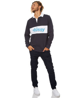 NAVY MENS CLOTHING STUSSY SHIRTS - ST077104NVY