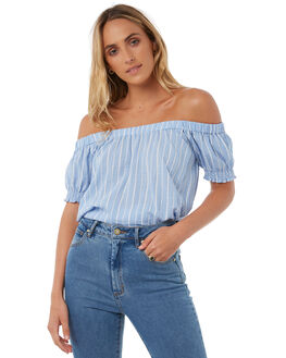 STRIPE WOMENS CLOTHING THE HIDDEN WAY FASHION TOPS - H8174169STR