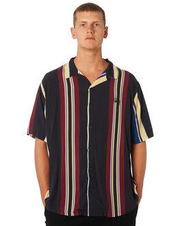 BLACK MENS CLOTHING STUSSY SHIRTS - ST091400BLK