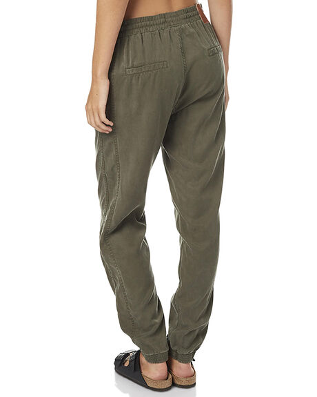 DARK OLIVE WOMENS CLOTHING RUSTY PANTS - PAL0897DAO