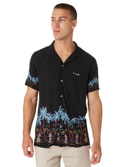 ISLAND BLACK MENS CLOTHING BARNEY COOLS SHIRTS - 301-CC1ISBLK
