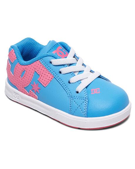 LIGHT BLUE KIDS BOYS DC SHOES FOOTWEAR - ADTS700036-LBL