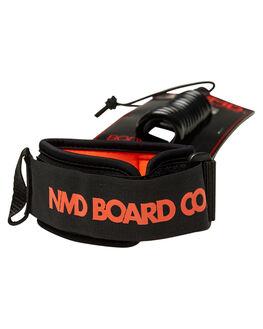BLACK FLURO RED BOARDSPORTS SURF NMD BODYBOARDS LEASHES - N19L3MBLKFR